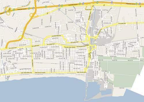 Cartina stradale di Viareggio