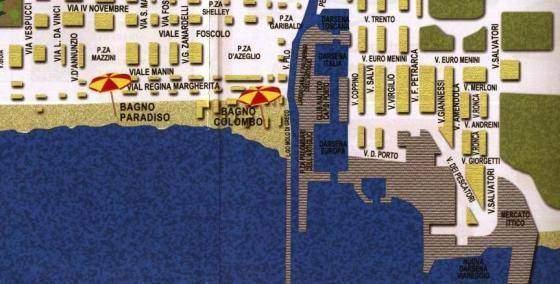 Cartina di Viareggio - Settore Nord-Ovest