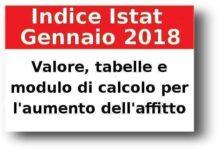 Istat gennaio 2018: valore, tabella, calcolo aumento istat