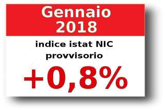 Indici Istat gennaio 2018