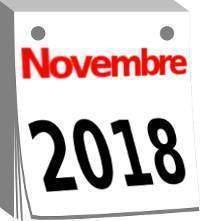 Calendario novembre 2018 Istat
