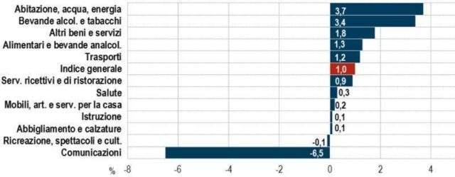 Indici Istat provvisori Marzo 2019: +1,0% 1